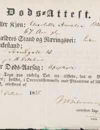 Charlottes ligsynsattest 1855