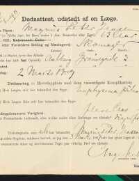 Magnus Peter Jensens ligsynsattest 1909